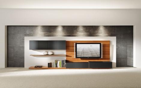 Wohnwand design holz  Wohnwand, Möbel und Design zum Einrichten und Wohnen von TEAM 7 ...