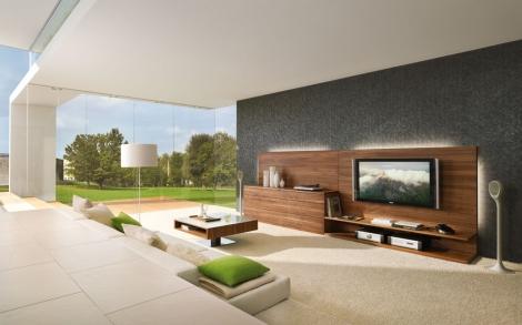 wohnwand design modern. Black Bedroom Furniture Sets. Home Design Ideas
