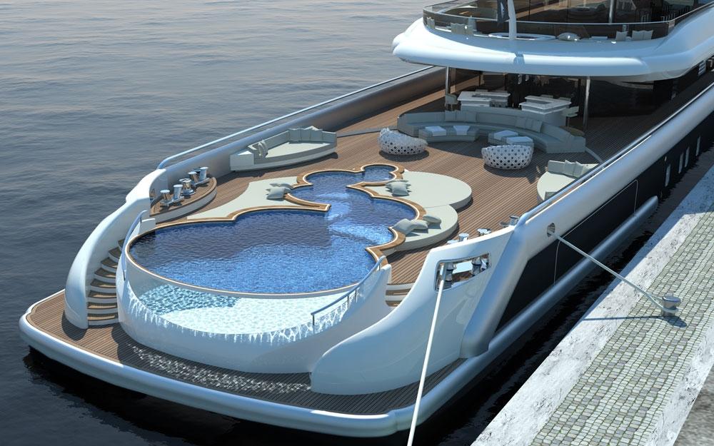 Yachten von innen  Interieur Design für Yacht und Boot Projekt EXPLORE von NEWCRUISE ...