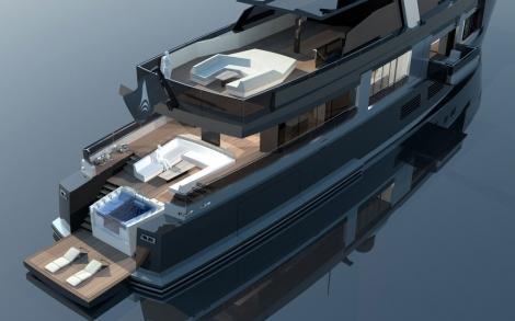 yacht und boot design projekt rebel von newcruise lifestyle und design. Black Bedroom Furniture Sets. Home Design Ideas