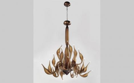 Lu murano kronleuchter aus murano glas lifestyle und design