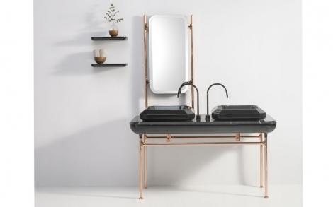waschtisch console diamante italienisches bad design von bisazza lifestyle und design. Black Bedroom Furniture Sets. Home Design Ideas