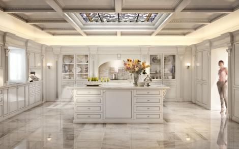 Edle Wandvertäfelung und Interior Design für die Küche von Bizzotto ...