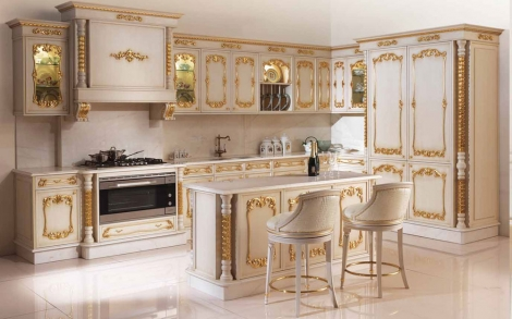 Luxus Küche mit Gold Einlage, Küchen von Angelo Cappellini Italien ...